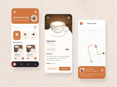 Coffee Shop location food delivery delivery app ui design inpetor uilooks attractive minimal figma apps mobile apps coffee app apps design design ux ui