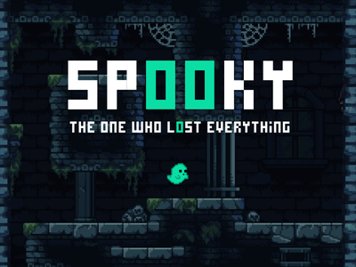 Spooky - The Game game artwork design pixel pixel art game art art jogo game design