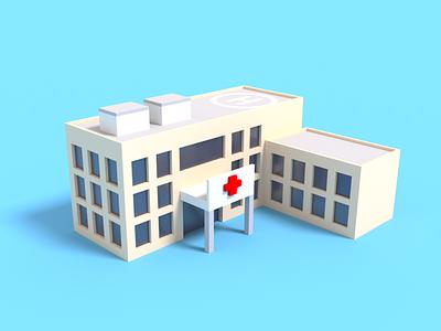 Hospital Voxel Art modeling art gaming voxel game covid19