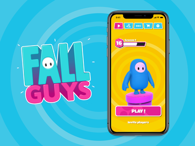 Fall Guys - Mobile adaptation fallguys guys fall ios ui game mobile app iphone design