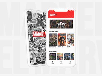 Marvel Comics - App heroes marvel studios marvel comics ui mobile app iphone design