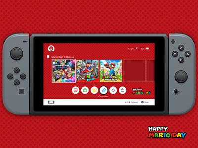 Mario Day - Nintendo Switch Theme odissey game design ui theme bros mario switch nintendo