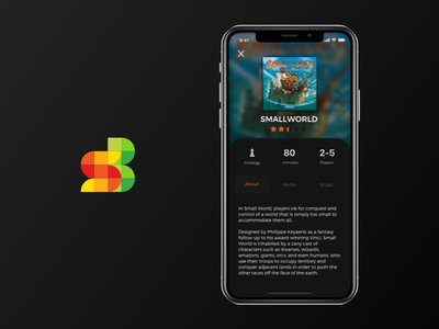 Social Board App interface mobile application games board social ui design iphone x