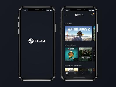 Steam App Redesign - iPhone X games iphone iphone x app redesign steam