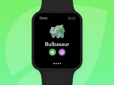 Pokedex - Apple Watch green design mobile iphone os watch grass bulbasaur pokemon pokedex
