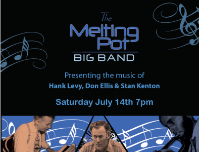 The Melting Pot Big Band Concert Posters posterart poster design concert poster typography color layout design graphics