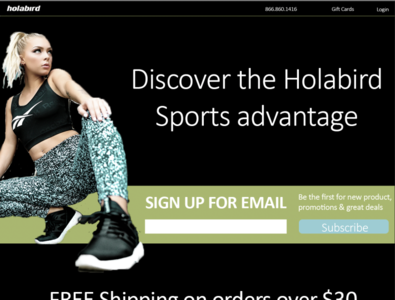 Sports Landing Page marketing typography color layout design graphics