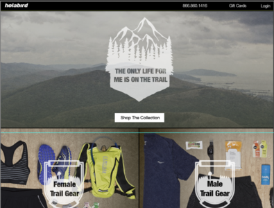 Landing Page Design for Sports Gear layout design graphics