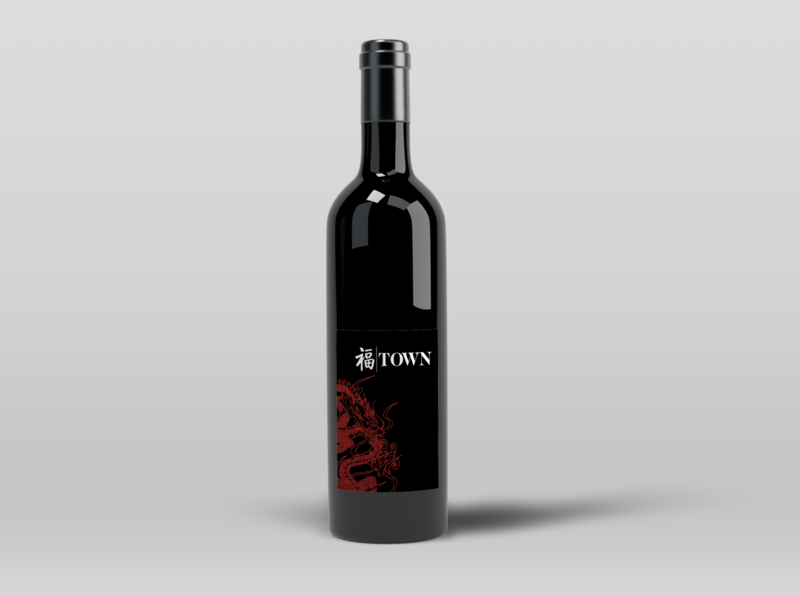 TOWN Branding Project graphics mockup bottle label branding