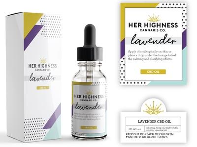 Her Highness CBD Oil Packaging