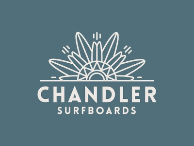 Chandler Surfboards surf brand vector identity logo