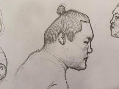 sumo sketch illustration minimal hakuho sumo design