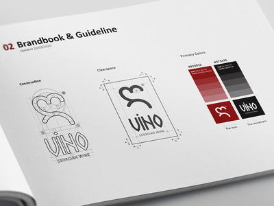 ღvino guidelines minimal wine typography branding design