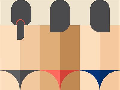 girls ass minimal illustration vector design