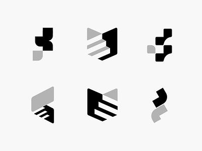 Stair  logos icon typography minimal logo illustration vector design