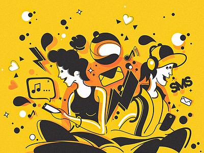 illustration internet vector illustration design