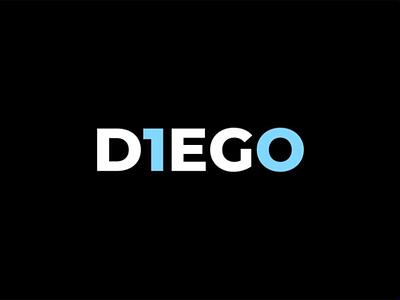 Diego 10 football lettering typography minimal sport illustration vector design