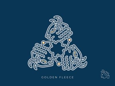 Golden Fleece mythology argonauts georgia icon logo illustration vector design
