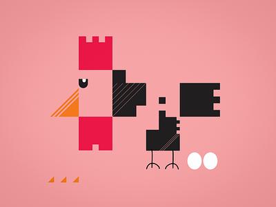 chicken_2 chicken minimal illustration vector design