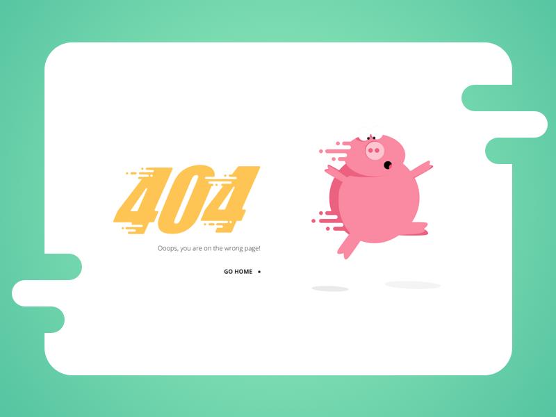 404 error page deisgn example #138: 404 page