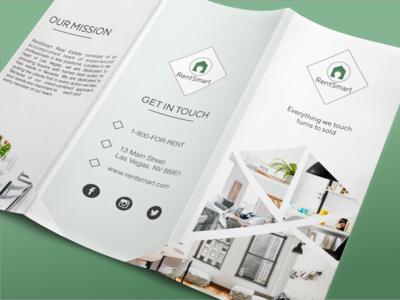 Real Estate Brochure type marketing tri-fold brochure tri-fold brochure minimal flat web vector art icon ux vector designer branding ui logo illustration design
