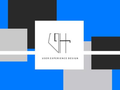 GH Logo Design website type mobile simple lettering illustrator graphic design clean brand identity brand marketing blue