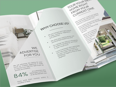 Real Estate Brochure Design tri-fold type mobile simple lettering illustrator graphic design clean brand identity brand marketing sketch