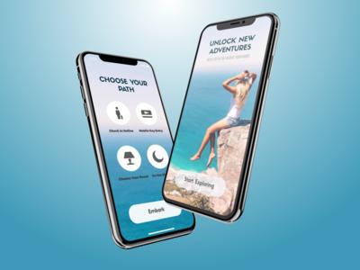 Travel App simple lettering illustrator graphic design clean brand identity brand sketch application app ios sketch app