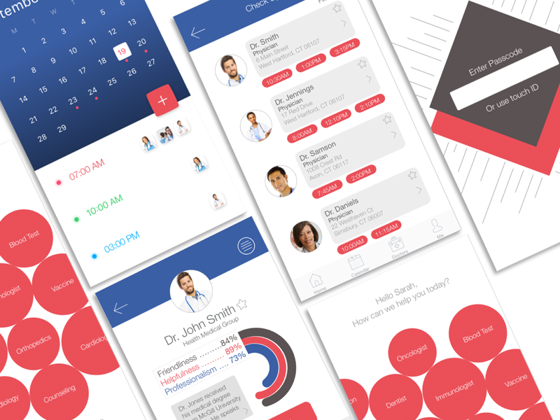 PocketDoc App simple lettering illustrator graphic design clean brand identity brand sketch application app ios sketch app