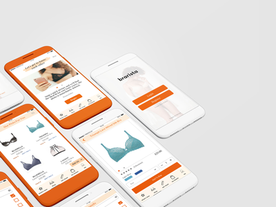 Shopping App UI icon minimal flat web app ux branding vector ui logo design illustration