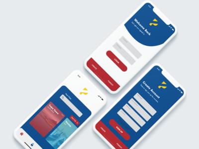 Travel App UI minimal flat web app ux branding vector ui logo design illustration travel