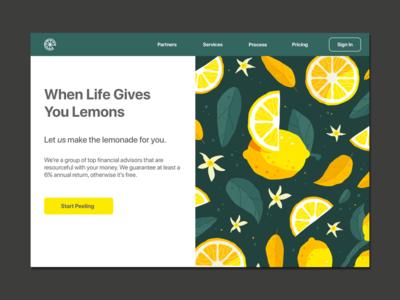 Money & Lemons Rebound icon minimal flat web app ux branding vector ui logo design illustration