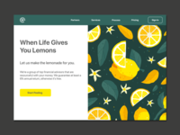 Money & Lemons Rebound icon minimal flat web app ux branding vector ui logo design illustration