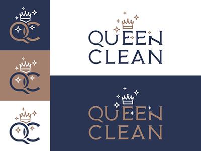 Queen Clean Brand Identity vector mockup logo logotype brand design branding brand