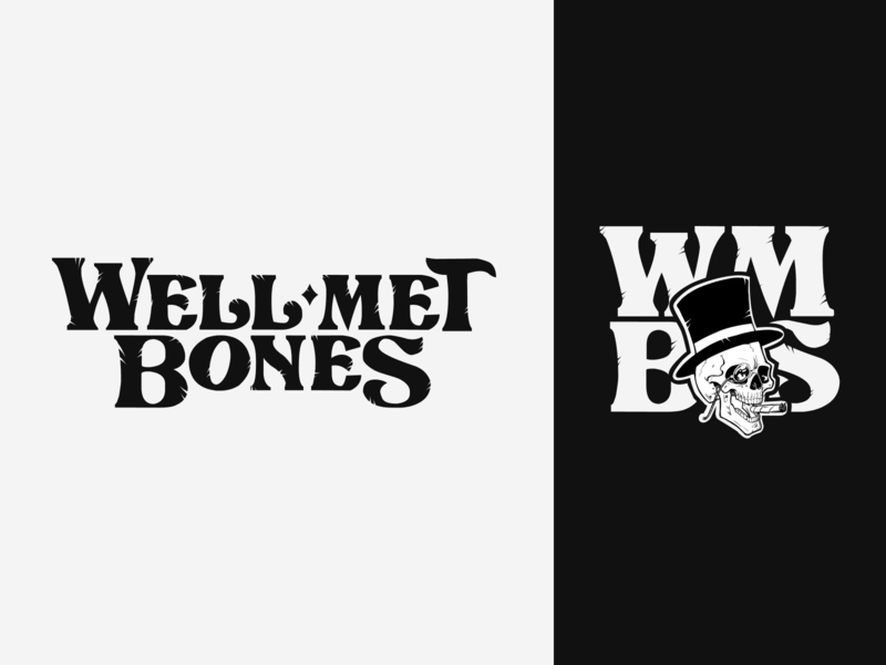 Well-Met Bones Logo Design brand identity illustration logotype music band identity logodesign logo design logo