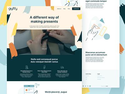 Giyftfy Landing Page web design identity brand design illustration vector minimal brand identity design mockup