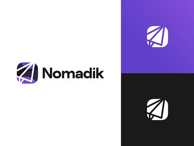 Nomadik App Logo Redesign logo design branding brand app logo