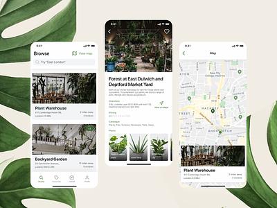 Bootanical Plant Shops App Design mockup ux minimal ui design brand app
