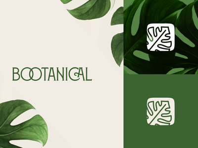 Bootanical App Logotype Icon branding minimal typography app illustration vector brand design logo brand identity brand