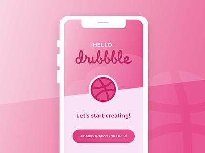 Hello Dribbble! mockup app splash design ui ux first post dribbble hello