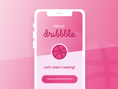 Hello Dribbble! mockup app splash design ui ux first post dribbble hello