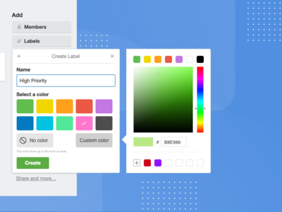 Trello Label Colour Picker picker color label trello