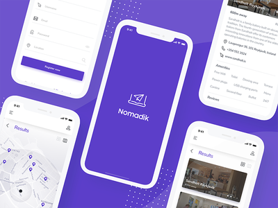 Nomadik - Remote workplace search coworking airbnb nomad remote design app