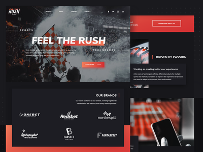 Rush Partners ui logo website animation corporate branding cms igaming uxresearch design corporate website