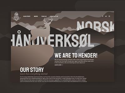 To Hender Website Design illustration website mockup one page product design brand identity brand app ui interface ui design ux design design product web design