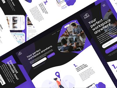 Nomadik landing page typography minimal brand ui app design brand identity mockup uxui ux homepage landing