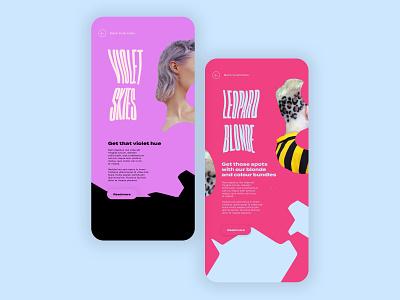 Editorial Page Concept ui  ux uiux ui design uidesign mobile app design mobile design mobile app mobile ui ui hairstyle hair salon editorial editorial design magazine design magazine