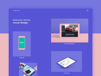 New Portfolio Site site web ui grid brutalism flat design homepage portfolio