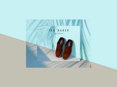 Ted Baker Footwear banner ad advert footwear fashion shoes banner