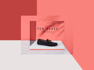 Ted Baker Footwear advertising banner ad footwear fashion banner